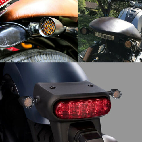 2X LED Motorcycle Turn Signals Bullet Blinker Running Tail For Harley-Davidson