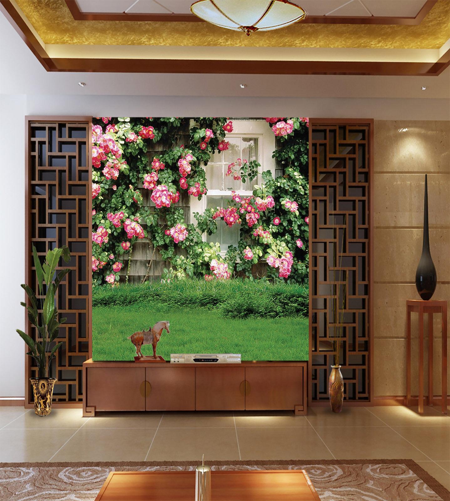 3D Flower Bawn Grassland Paper Wall Print Decal Wall Wall Murals AJ WALLPAPER GB