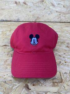 Disney-Mickey-Mouse-Gorro-Gorra-Roja-De-Baseball-Ajustable