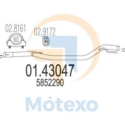Aggressivo Mts 01.43047 Scarico Vauxhall Vectra C 1.9 Cdti Td 101bhp 10/05 - 06/09- Morbido E Leggero