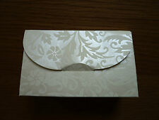 Purse Shape Boxes x 50, Cream Embossed, for Wedding Favours, Gifts, Jewellery