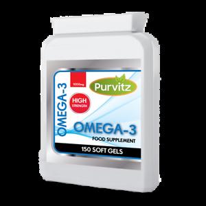 Omega-3-olio-di-pesce-1000mg-Super-Forza-Capsule-DHA-EPA-amp-cuore-la-salute-del-cervello-UK