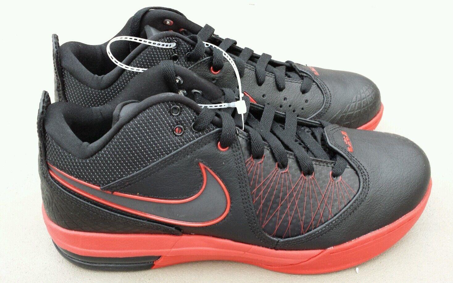 Nike Lebron James Air Max Ambassador IV 4 Mens size 9.5 Blk Red shoes 456815-004