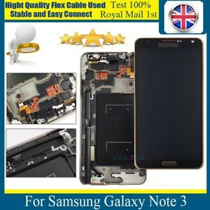 Details about For Samsung Galaxy Note 3 N9005 LCD Touch Screen Display  Digitizer Gold Frame