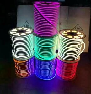 Dc 12v 24v 2835 waterproof led neon rope light 120ledm flexible image is loading dc 12v 24v 2835 waterproof led neon rope aloadofball Choice Image