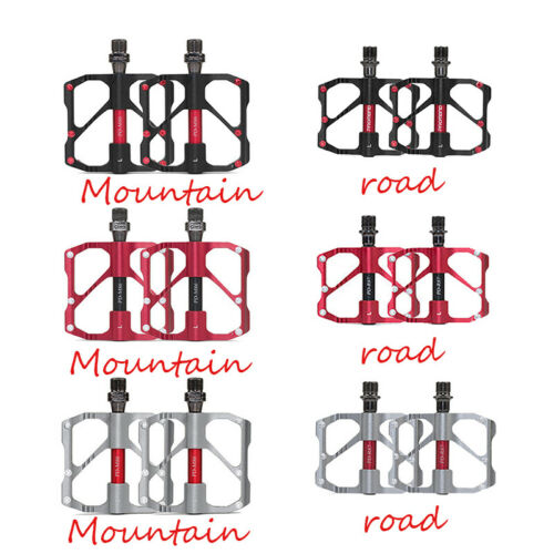 US Promend 9//16 in MTB Road Bike Pedals 3 Sealed Bearings Ultralight Alloy 1Pair