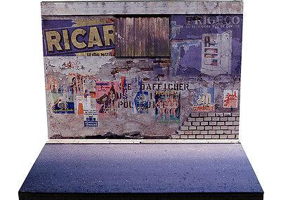 Audace Diorama Présentoir Mur Délabré - Decayed Wall - 1/43ème - #43-2-a-a-043