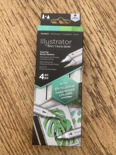 Spectrum Noir Illustrateur Stylos-Nouveaux Packs de 4 stylos ** verdoyante **