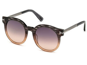 82a9c48691031 TOM FORD SUNGLASSES TF 435 Janina Grey-Brown   Grey Gradient TF435 ...