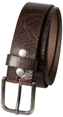argent antique minimaliste boucle Fronhofer MEN/'S Genuine Leather Belt