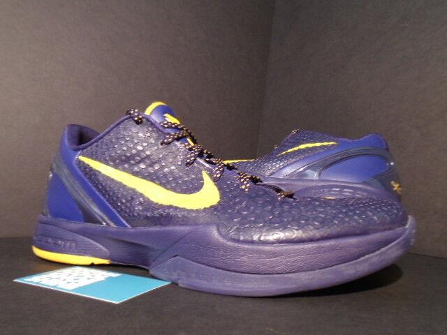 reputable site 321d7 dd9b3 2011 Nike Zoom KOBE VI 6 IMPERIAL PURPLE DEL SOL YELLOW LA LAKERS 429659-501
