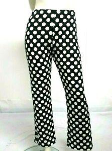 Neuf-2020-Look-Spot-Imprime-Palazzo-Large-jambe-pantalon-stretch-taille-haute-taille-pantalon