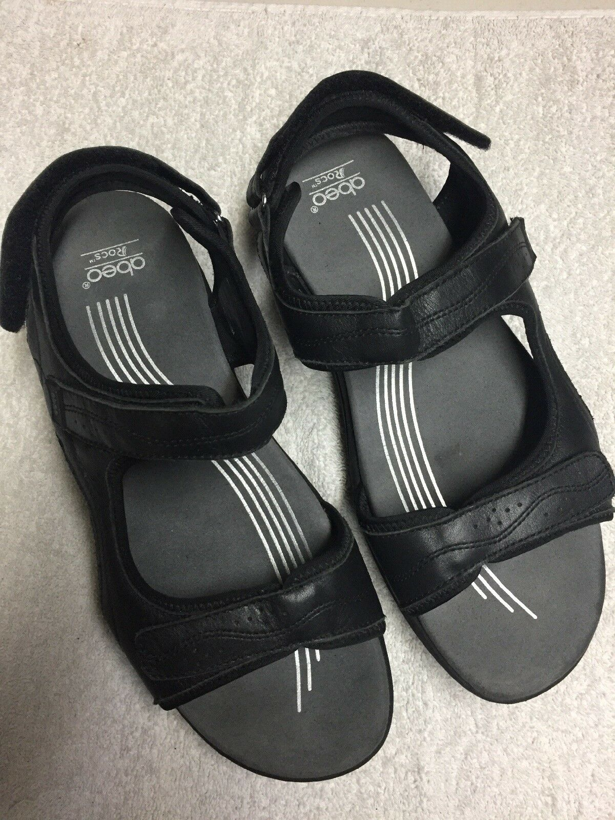 Obeo Rocs Women's Black Ankle Cross Strap Casual Sandals shoes Size Sz 11 Medium