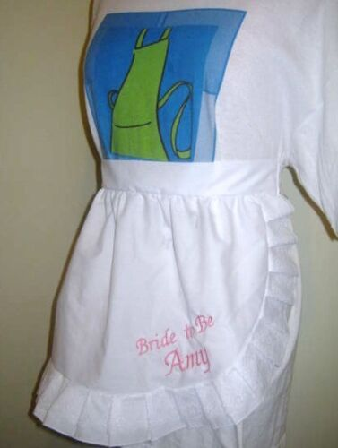 1//2 Aprons M2O Most colors with Overlace trim Suit Bride and Bridal Party