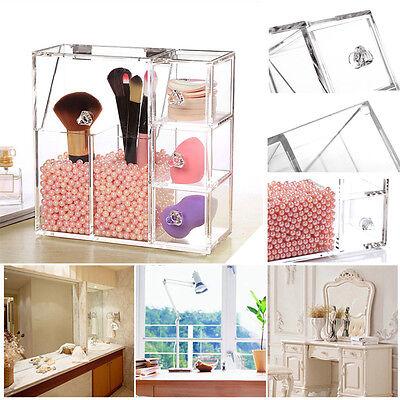 Dustproof Acrylic Makeup Brushes Holder Cosmetic Organiser Storage Box Case