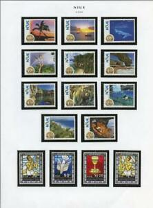 NIUE-SELECTION-OF-2009-214-MINT-NEVER-HINGED-STAMPS-amp-SOUVENIR-SHEETS-AS-SHOWN