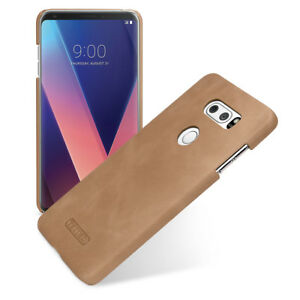 new styles 4831a 73580 Details about for LG V30 V30+ V30 Plus Genuine Leather Back Cover Hard  Shell Snap Case Brown