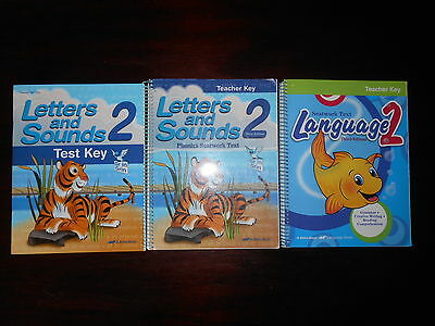 ABeka Book LETTERS AND SOUNDS LANGUAGE LOT OF 3 homeschooling 2nd grade teacher