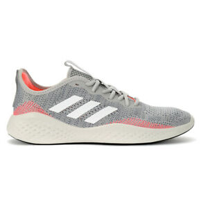 Adidas Men's FluidFlow Grey Two/Cloud White/Signal Coral Running Shoes EG3667...