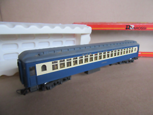 374F-Rivarossi-2648-Voiture-Coach-New-Jersey-Central-The-Blue-Comet-Ho-1-87