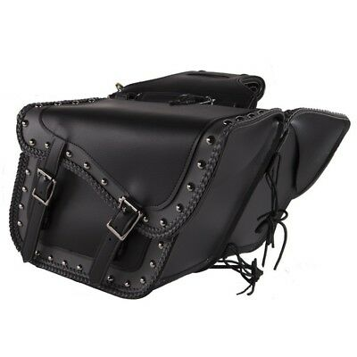 2PC HARD SADDLE BAGS SET FOR HONDA SHADOW VT VLX 600 700 ZIP-OFF w/ LOCK U16
