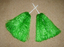 Cheerleader Wavers 2 X Verde PON PON Wavers Party Costume NUOVO