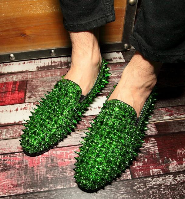 Uomo Rivet Punk On Evening British Slip On Punk Loafers Nightclub Party Dress Scarpe size 4fc8a5