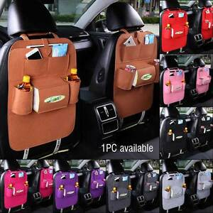 1PC Dark Grey Car Seat Back Bag Organizer Multi-Pocket Hanging Storage Holder