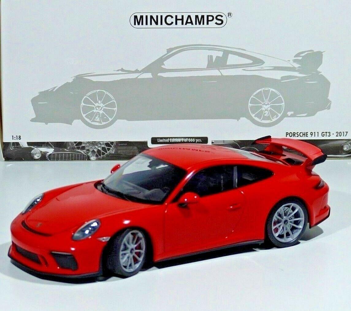 a precios asequibles Porsche 911 (991 II) GT3 modelo modelo modelo año 2017 lava naranja 1 18 Minichamps  hasta un 50% de descuento