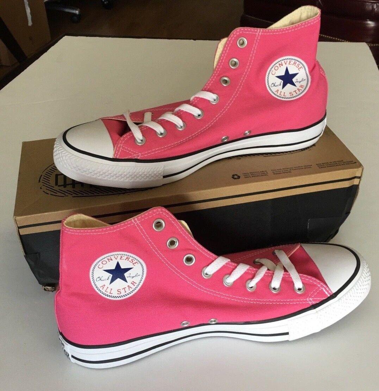 Converse Hi Top All Star  Chuck Taylor Pink WEISS  Star Uomo Damenschuhe Schuhes Sz 11 M 13 W 00c079