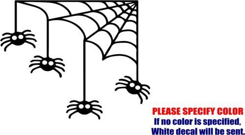 "Halloween Spider and Web Car Car Truck Bumper JDM Fun 6/"" Vinyl Decal Sticker"