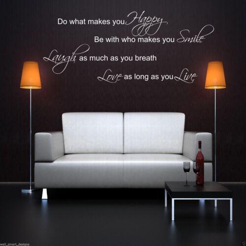 Laugh sonrisa Love Live cotización de Pegatinas de Pared Calcomanía Mural Stencil transferencia WSD414