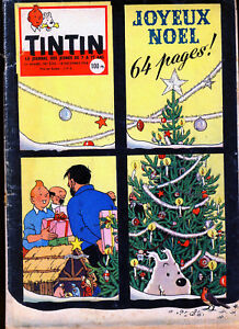 TINTIN-Edition-Francaise-n-530-du-18-decembre-1958-Calendrier