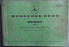 Mercedes MB track 65 , 70  440 Ersatzteilliste