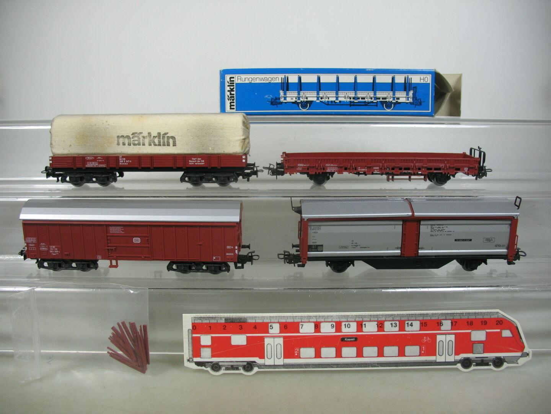 Am468-1  4x  /Marklin h0/ac carro merci: 4633 + 4694 + 4475 etc, DB, 1x OVP