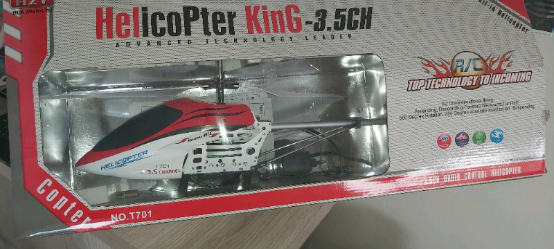 Radio controlled helicopter for sale.