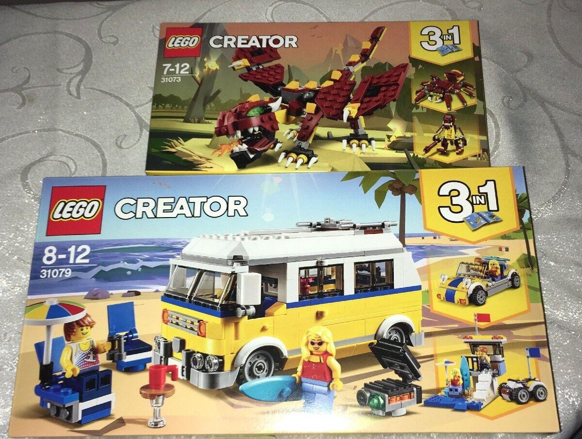 2 Lego Creator 3in1 Sets - Lego 31079 31079 31079 & Lego 31073 - New 624e3b