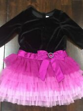 Jona Michelle Girls Cap Sleeve Part Dress With Long Sleeve Bolero Jacket 3T NWT