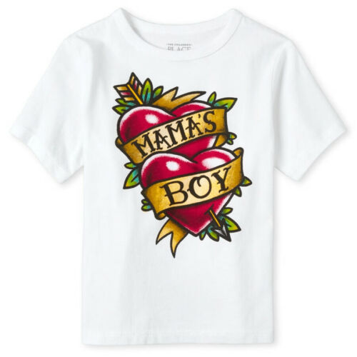 NWT The Childrens Place Mama/'s Boy Short Sleeve Valentines Day Shirt 2T 3T 4T 5T