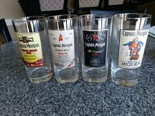 Captain Morgan Rum Official Crew Gear 4 High Ball Glass Set 15oz For Sale Online Ebay