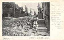 Suqquehanna Pennsylvania Looking up Washington Street Antique Postcard J60864