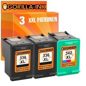 3x-Tinten-Patrone-XXL-fuer-HP-336-amp-342-Photosmart-2500-C3150-C3170-C3175-C3180