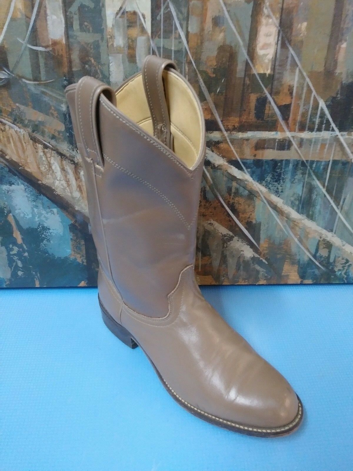 LAREDO 6933  Boots Cowboy Cowgirl Western BROWN Leather Boots Womens 8 M USA