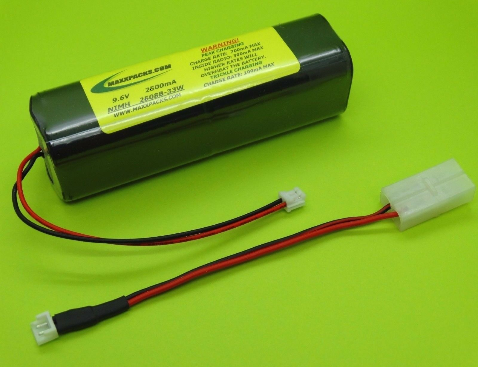TWO 2600mA Tx BATTERIES 4 SPEKTRUM XP6102 XP8103A 9303   2608B-33W   MADE IN USA
