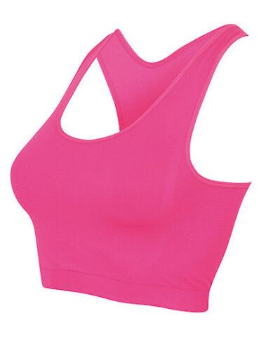 SF Women Damen Ladies Work Out Cropped Top Sport Bustier BH Bra bauchfrei Neu