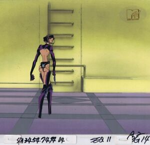 AEON-FLUX-Original-Production-Cel-Cell-Animation-Art-MTV-Liquid-TV-1990-039-s-Gun
