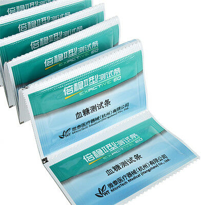 20 Pcs Test strips For EXACTIVE EQ Simple Brand Blood Glucose