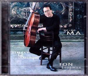 Yo-Yo-MA-SIMPLY-BAROQUE-BACH-Air-BOCCHERINI-Cello-Concerto-CD-Ton-KOOPMAN-NEU