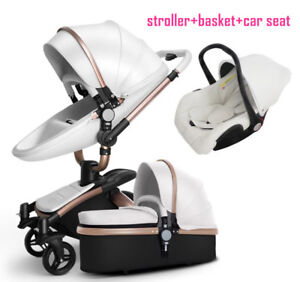 Luxury Baby Stroller 3 In 1 Aulon With Car Seat New Model No Vat