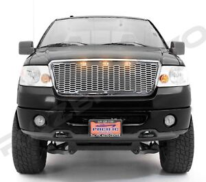 Grille shell Raptor Style Hood Ford 08 Mesh F150 Chrome Front 04 rCQdexWBEo
